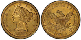 Graded PCGS Secure AU58+, the 1854-S Half Eagle is another treasure from the Pogue Family Collection.